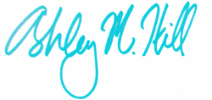 Signature for Ashley M. Hill